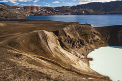 Vitio hot spring and Oskjuvatn lake - Iceland. Stock Photo