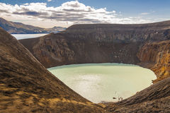 Vitio lake with hot water - Iceland. Stock Photo