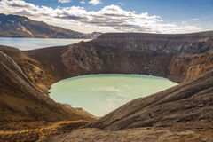 Vitio lake - Iceland. Stock Image