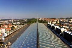 从Vitkov纪念品的顶端HDR视图在布拉格风景在一个晴天 免版税库存照片