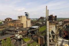 Vitkovice铁和钢厂地区在俄斯拉发 免版税库存照片