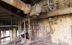 Vitkovice铁和钢厂鼓风炉 免版税库存图片