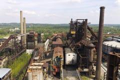 Vitkovice铁和钢厂鼓风炉 免版税库存照片