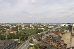 Vitkovice Iron and Steel Works area and Ostrava city center Royalty Free Stock Photo