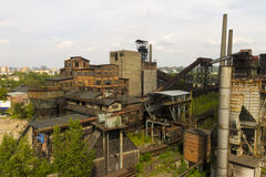 Vitkovice Iron and Steel Works Blast furnaces in Ostrava Stock Images