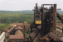 Vitkovice Iron and Steel Works towers in Ostrava Royalty Free Stock Image