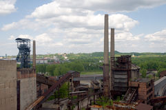 Vitkovice mining tower Royalty Free Stock Photos