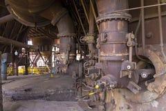 Vitkovice stryker och stålsätter arbeten spränger pannan Royaltyfri Fotografi