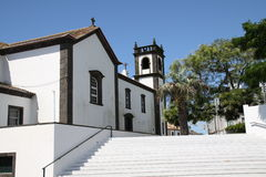 Vitkyrka i Azoresna Arkivbild