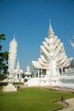 Vitkyrka, Wat Rong Khun, Chiangrai, Thailand Royaltyfri Foto