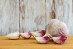 Vitlök grönsak, krydda Royaltyfria Foton