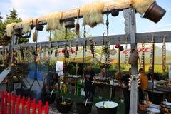 Vitlökfestival Arkivbild