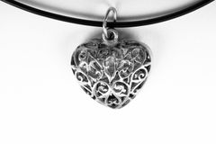 Vitnage heart necklace Stock Images