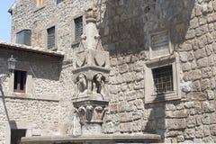 Vitorchiano, old fountain stock photos