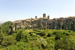 Vitorchiano, old town. Vitorchiano (Viterbo, Lazio, Italy), old typical town: panoramic view Stock Photography