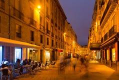 Vitoria-Gasteiz的历史的部分晚上视图  图库摄影