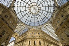 Vitorrio emanuelle. Vitorio emanuelle galeries at milan, italy Royalty Free Stock Photography