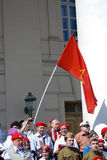 Vitory Day celebration in Moscow Stock Image
