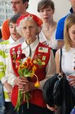 Vitory Day celebration in Moscow Royalty Free Stock Images