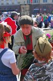 Vitory Day celebration in Moscow Royalty Free Stock Photo