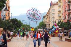 Vitosha-Straße Sofia Bulgaria Lizenzfreie Stockbilder