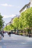 Vitosha street in the center of Sofia,Bulgaria Stock Images