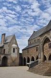 Vitré, Bretagne, Frankrijk. Hoofdkasteel binnenhof Royalty-vrije Stock Fotografie