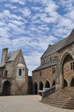 Vitré, Brittany, France. Main castle inner court Royalty Free Stock Photography