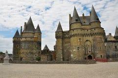 Vitré, la Bretagne, France. Château principal Images libres de droits