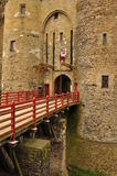 Vitré, Bretagne, Frankrijk. Hoofdkasteel Stock Foto