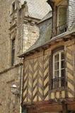 Vitré, Bretagne, Frankrijk. Traditionele architectuur Stock Afbeeldingen