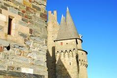 Vitré, Brittany, France, château médiéval Photos stock