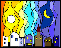 Vitr_Day-Night_City Stock Images