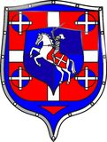 Vitr_Knight_Horse-4_shield Image stock
