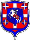 Vitr_Knight_Horse-4_shield Стоковое Изображение