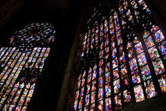 Vitrage dans le Duomo Photographie stock libre de droits