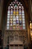 Vitrage im Innenraum Kathedrale der Str.-Michael stockfotografie