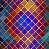 Vitrage mosaic vector background. Vitrage mosaic vector illustration. dark design  background Stock Photos