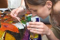 Vitrage painting Stock Image