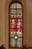 Vitrage of Riga Dome Cathedral Stock Photo