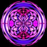 Vitrage van het gebrandschilderd glas met abstract patroon Royalty-vrije Stock Fotografie
