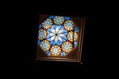 Vitrage w Wielkiej synagoga w Dohany ulicie Fotografia Royalty Free