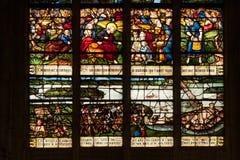 Vitrages στην τοπική εκκλησία της Νορμανδίας Στοκ εικόνες με δικαίωμα ελεύθερης χρήσης