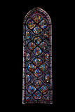 Vitrages of Chartres cathedral Royalty Free Stock Photo