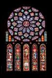 Vitrages della cattedrale di Chartres fotografia stock libera da diritti