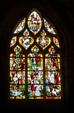 Vitrages in local Normandy church Royalty Free Stock Photography