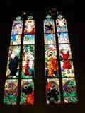 Vitrail, Cathedrale Saint-Nicolas de Fribourg ( Suisse ) Royalty Free Stock Photos