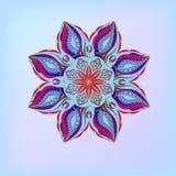 Vitrail de fleur d'ornement Photos libres de droits