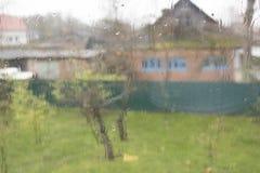Vitrail humide après la pluie Photographie stock