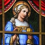 Vitral - alegoría en el sufrimiento de Jesús imágenes de archivo libres de regalías